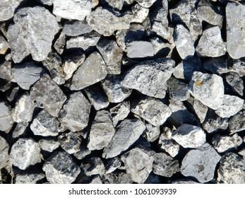 Rough Gravel, Railroad Ballast, Stones, Detail