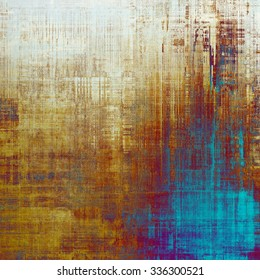 Rough grunge texture. With different color patterns: yellow (beige); brown; blue; purple (violet)