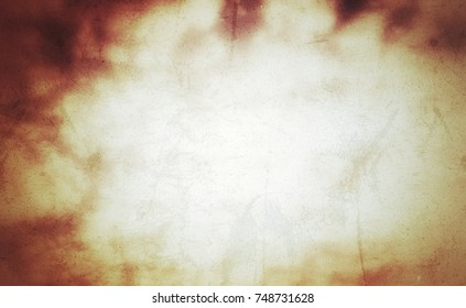 rough grungy background with messy texture surface, yellow light glowing with dark shadow frame at corner, backdrop for text space background