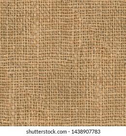 Rough Linen Hemp Burlap Seamless Background Texture