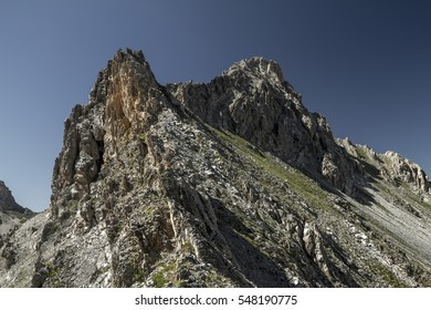 Rough mountains in the alps.