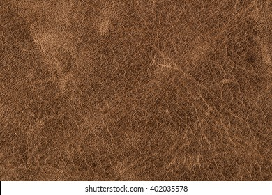 Rough Old Brown Leather Background