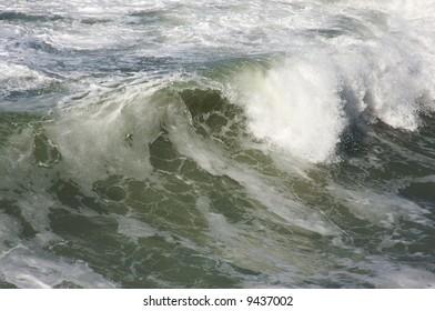Rough Pacific Ocean Waves