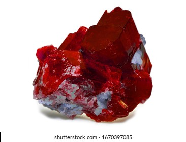rough red ruby and diamonds gemstones crystals