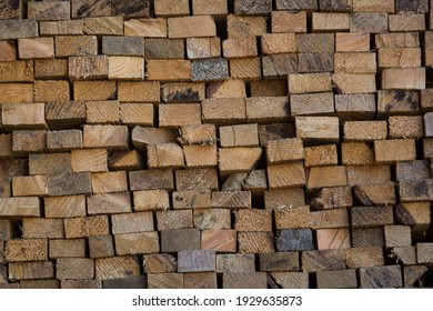 rough sawn timber treated pine stacked hard wood board saw cut construction lumber carpentry, building, bush craft, woodcraft, interior exterior design materials background
