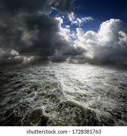 Rough seas in a dystopian world.