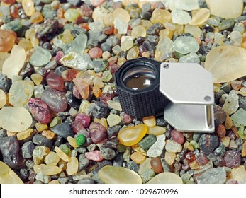 Rough stone is the uncut stone. In gems business, the rough stone before to cutting and polished. They must to sorting quality by loupe magnification 10x.