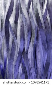 Rough Style Three Dimensional Intertwined Textured Abstract Background and Wallpaper  in Purple Color