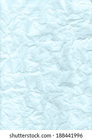 Rough texture of crumpled turquoise color