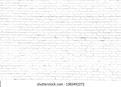 Rough white brick wall background or texture