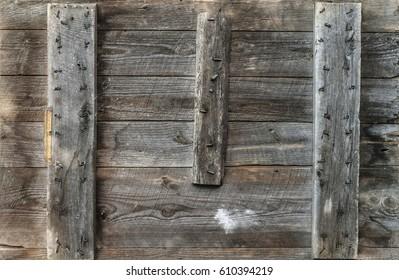 Rough wooden door background