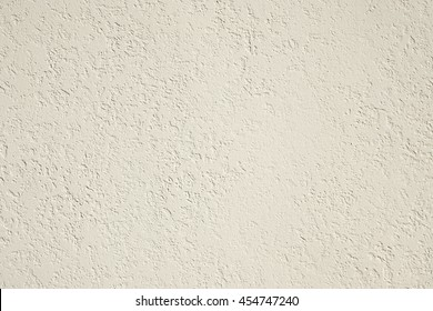 Roughcast Plaster Wall Background Texture In Off White