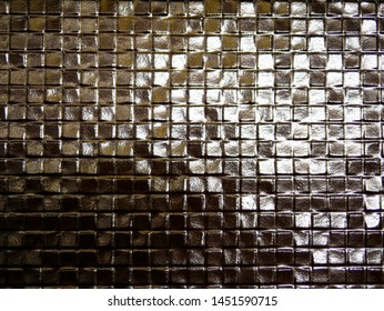Roughed square metallic wall design pattern use as background
