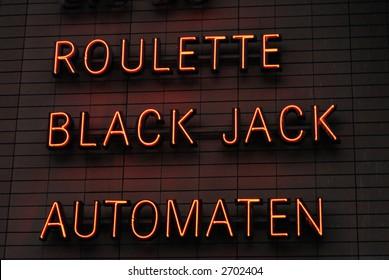 Roulette or Black Jack Neon Sign