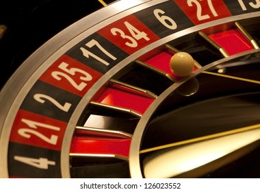 Roulette stopped . Gambling wheel .