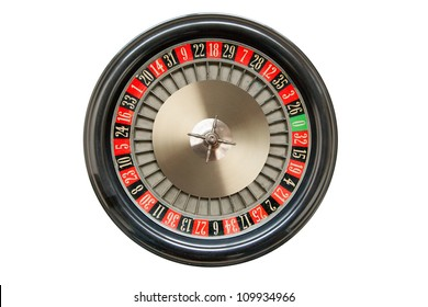 Roulette wheel isolated on white background