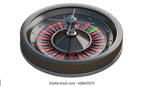 Roulette wheel isolated on white background. High resolution 3d