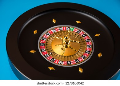 Roulette wheel running in a casino