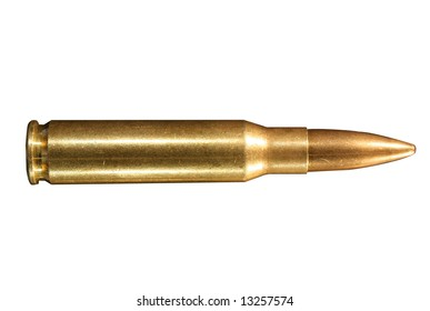 Round of .308 winchester, also known as 7.62mm X 51 NATO