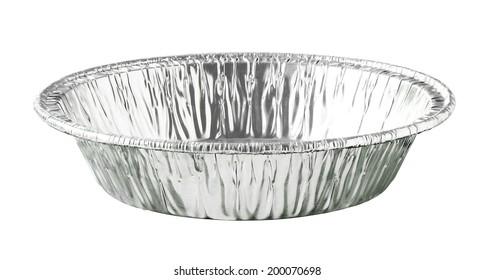 Round Aluminium Foil Food Tray isolated on white background