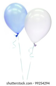 Round balloons blue and white color