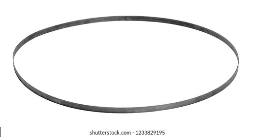 round bandsaw blade isolated in white back