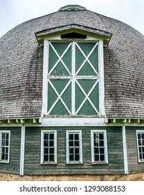 Round barn in the Palouse near Pullman, Eastern Washington State