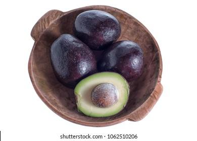 round black avocado variety in Ecuador