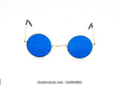 Round blue glasses spectacles