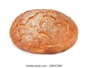 round bread isolated on a white background