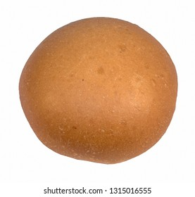 Round bun for a Burger egg isolated on white background