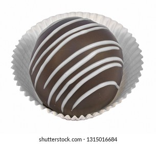Round cake with chocolate icing