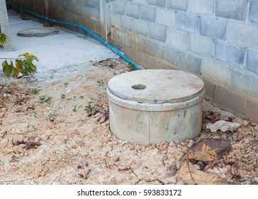 round cement septic tank for treat sewage water