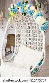 round and comfort chair on beautiful interior