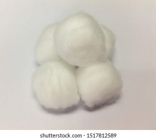 Round cotton ball are used for checking wounds or cleaning wounds.