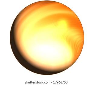 A round globe ball icon