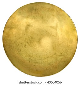 Round golden slide