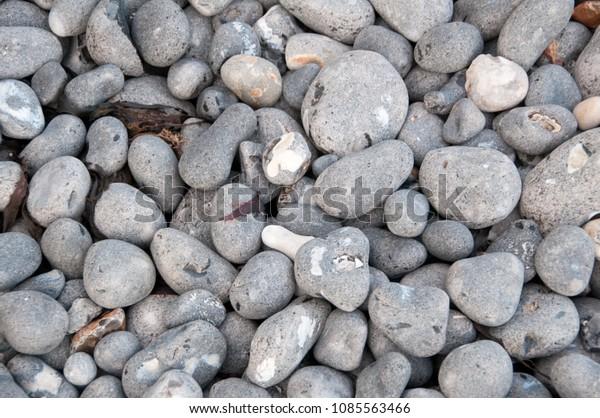 Round grey stones