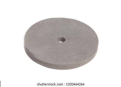 Round grindstone isolated on white background