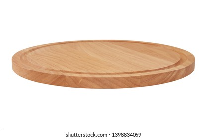 Round kitchen board isolated on white