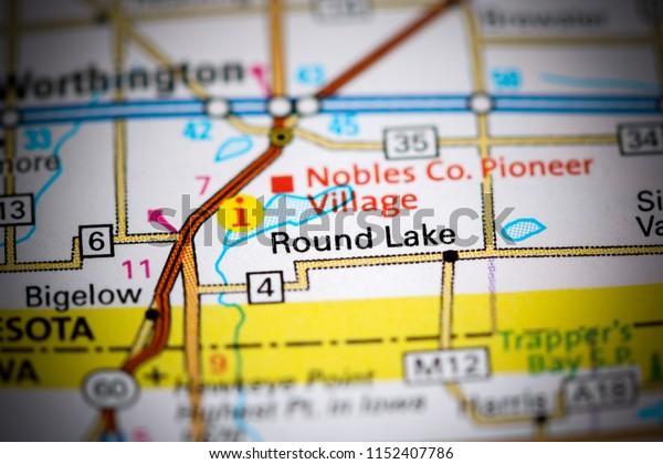 Round Lake. Minnesota. USA on a map