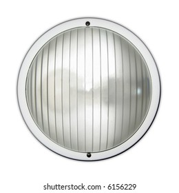 A round lamp with glas and reflection