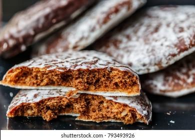 Round Lebkuchen (german gingerbread cookies)