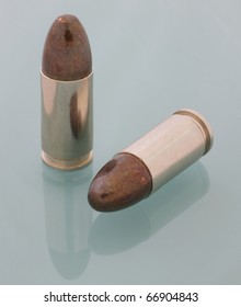 round nose bullets on 9 mm Parabellum cartridges