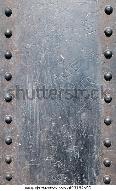 Round pattern metal sheet background texture