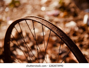 A round shape metallic wheel ring of a bicycle photo