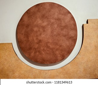 A round shape wooden structure isolated object unique photo