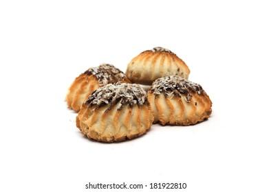 Round shortbread. Photo.