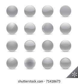 Round silver buttons in various style for your design.