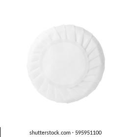 Round soap bar isolated on white background